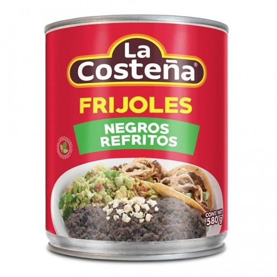 Fasole neagra refried (Black Beans Refried 580g)